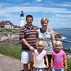 The family at Portland Head Lighthouse, ME