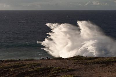 Surf Watchers at Maka'huena Point