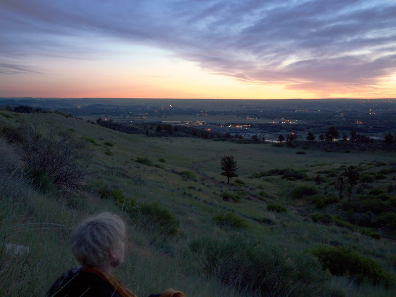me watching the sunrise over fort collins