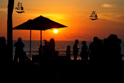 Sunset at KuDeTa, Seminyak, Bali, Indonesia