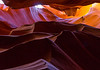 Upper Antelope Canyon, looking nearly straight up.