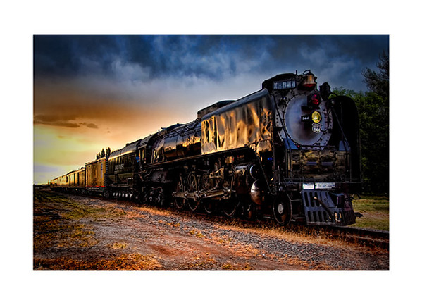 Union Pacific 844 Steam Engine Based in Cheyenne, Wyoming