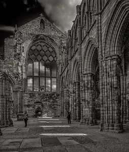 Abbey ruins at Palace of Holyrood,