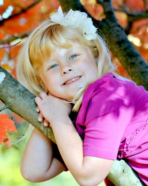 Kamryn in a tree