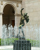 Boston Public Library Courtyard statue and fountain.