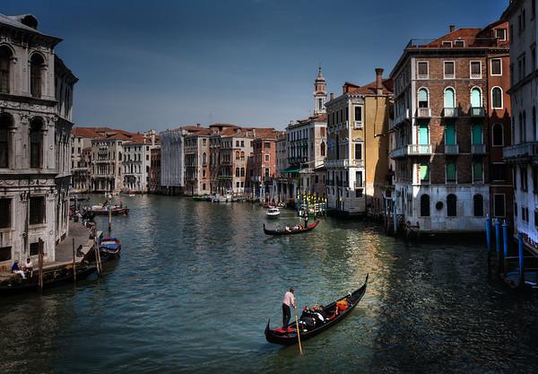 View from Rialto Bridge Venice, Italy