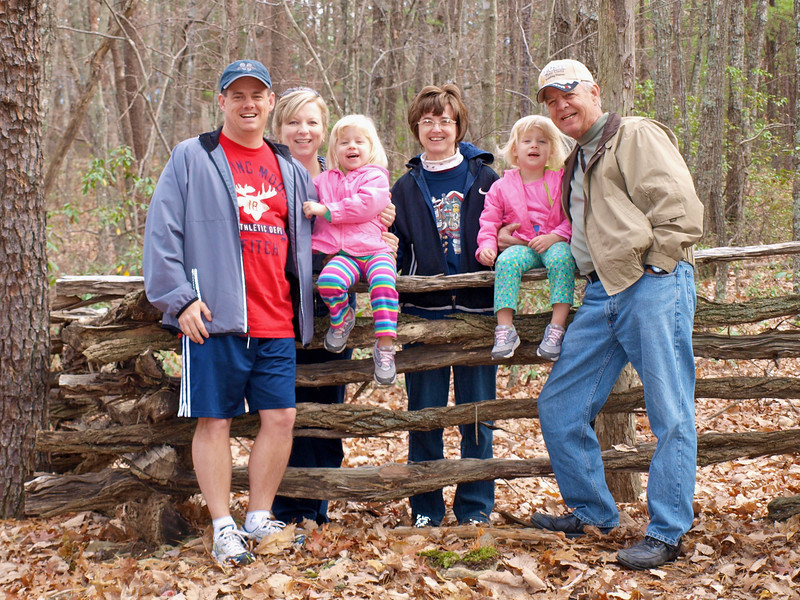 Hiking with Grandma and Granddaddy in Hanging Rock State Park, NC