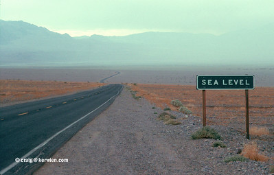 Sea level, Death Valley