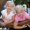 Kamryn &  Sydney playing in the trees at the NC State Fair.