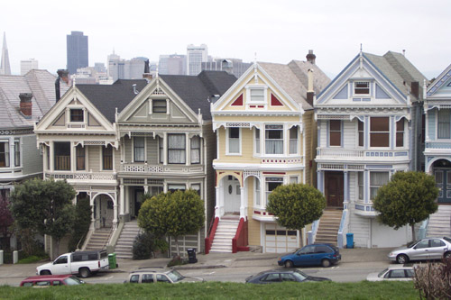 The Painted Ladies of S. F. Before changes were made!