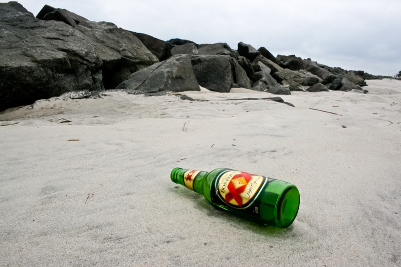 Bottle at Jetty