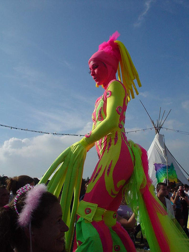 Dancer during Dance Valley 2003