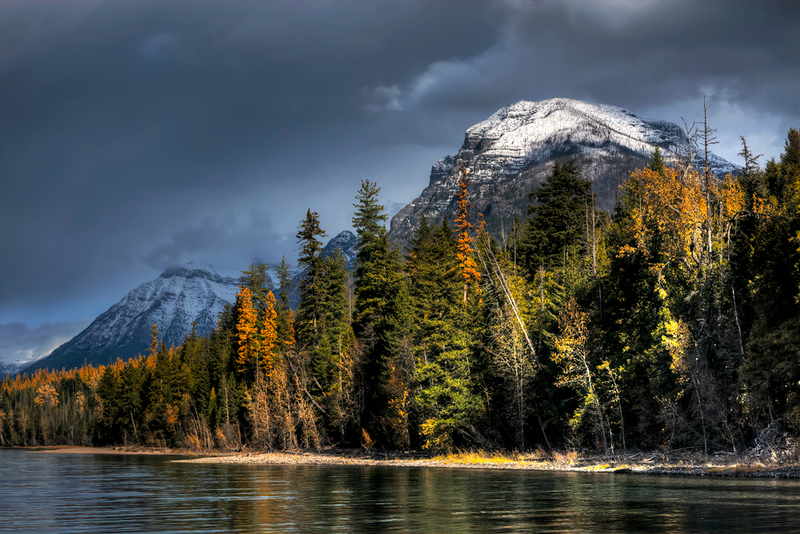 Shaft of Sunlight - Lake McDonald, Glacier Nat'l Park, Montana