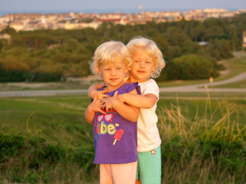 Loving sisters at Wright Bros Memorial