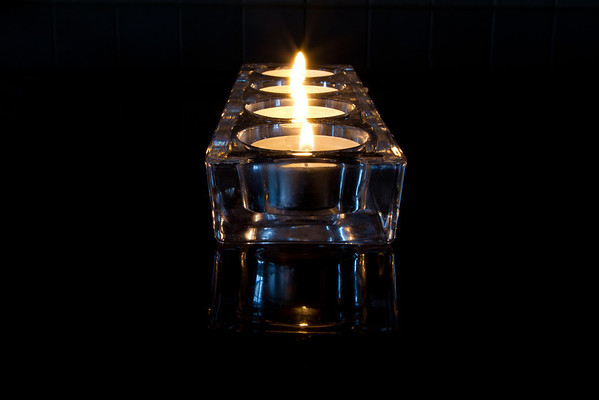 Candles in Holder 1
