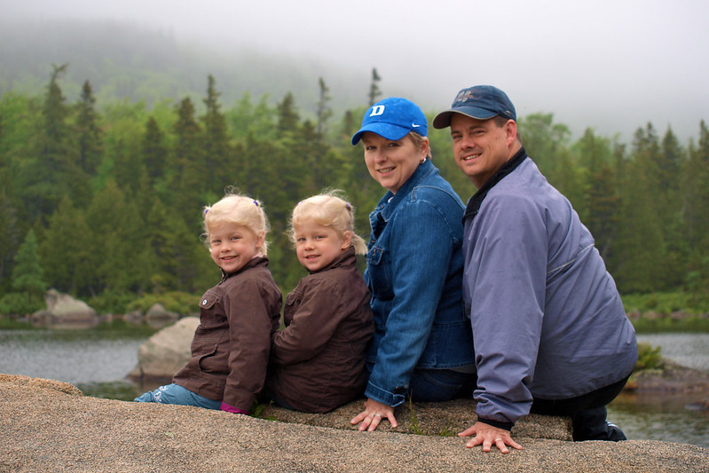 The family at Sandy Stream Pond, Baxter State Park, ME