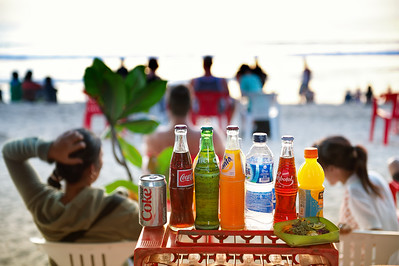 Kuta, Bali, Indonesia. Drinks on the beach.