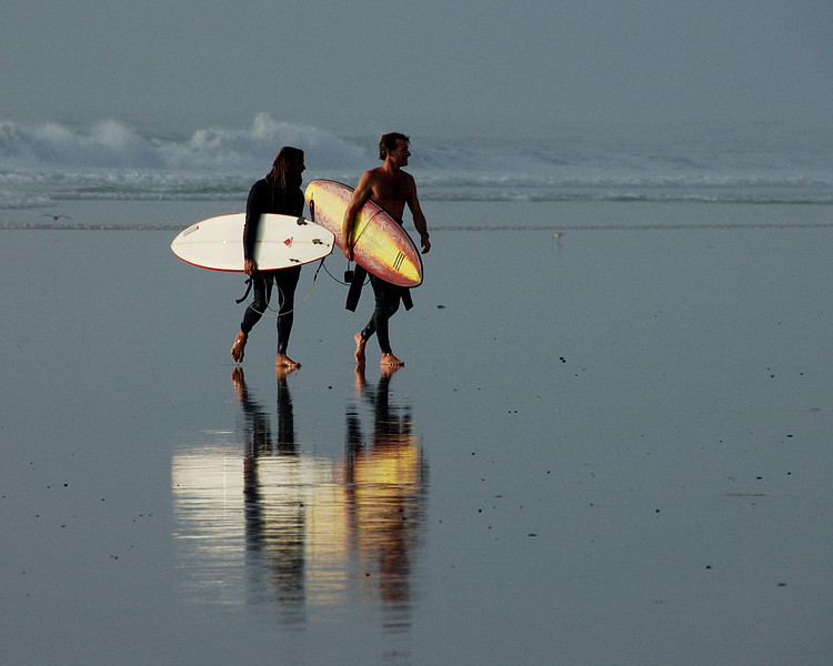 3rd Place Indy Star Travel Photography Contest 2007 - Surfers on the shore, San Diego CA.