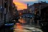 Sunset in Venice on June 4, 2015.