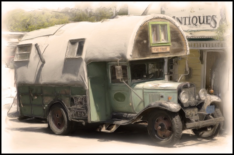 Old Camper, Located in Fallbrook, Ca.