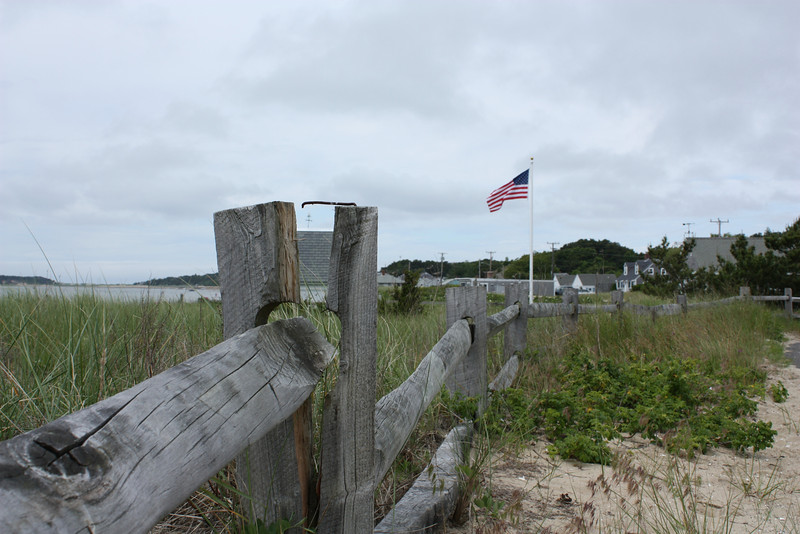 We do seem to like our flags, don't we? Somehow it looks right here on the sand dunes behind a weathered split-rail fence (as opposed to plastered across the back of an SUV). I think this image pretty much sums up the Cape, and in doing so, everything that's nice about the US.