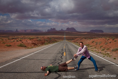Dave and Jimmy in Monument Valley.