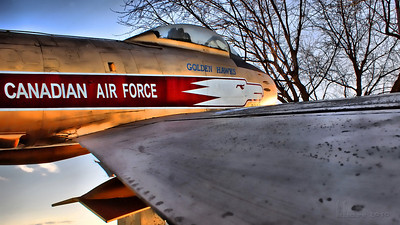 """Photo a Day for a Year"": Saturday November 27, 3:35pm  ...a view from the tip of the wing of the Canadian Air Force plane mounted at Brockville's Blockhouse Island."