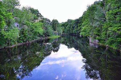 Reflections before the Falls - Hillsboro, NH