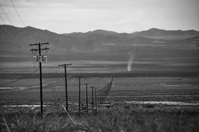 Distant Dust Devil - Mojave Desert