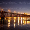 Oceanside Pier: Twilight Surfer