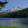 7.29.12  <b>Mt. Bachelor looms over Todd Lake in the high Cascade Mountains</b>  Todd Lake is a beautiful mountain lake sitting at an elevation of 6150 ft.