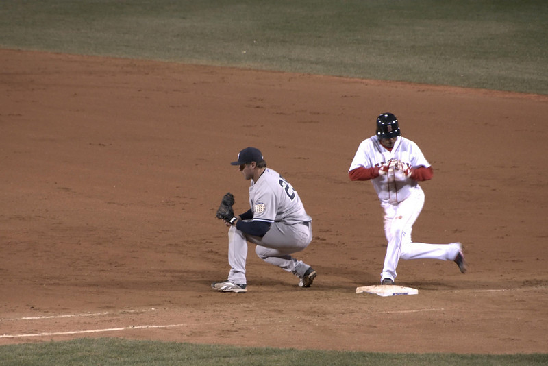 Coco Crisp tags-up.