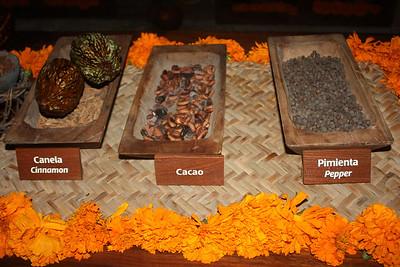Chocolate making ingredients.