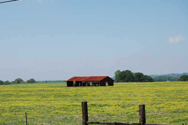 Field and barn