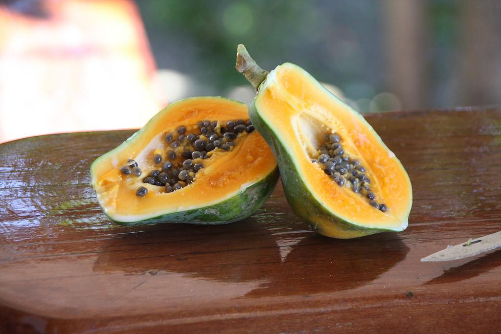 Papaya - cut fresh off the tree