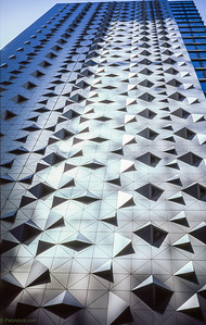 A sharp design partly reflecting sunlight