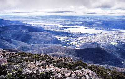 Views from te top of mount wellington, Hobart