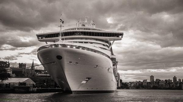 Cruise ship docked...