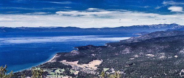 Panaromic view of lake tahoe