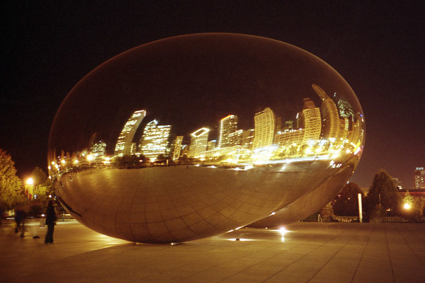 Camera: Yashica T4 Super<br /> <br /> Cloud Gate, Millennium Park