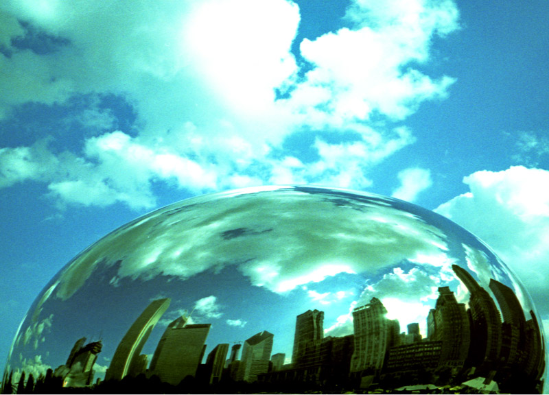Camera: Nikon 35Ti<br /> <br /> Cloud Gate, Millennium Park