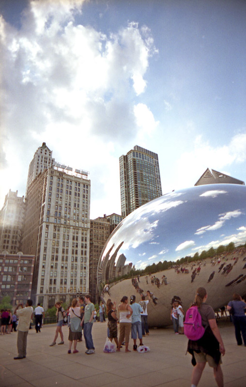 Camera: Vivitar Ultra Wide and Slim<br /> <br /> Cloud Gate, Millennium Park