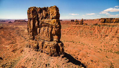 Aerial Valley of the Gods, Mexican Hat, Utah