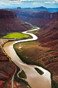 Colorada River Winding through Moab, Utah