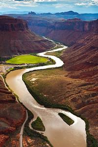 Colorada River Winding through Moab, Utah