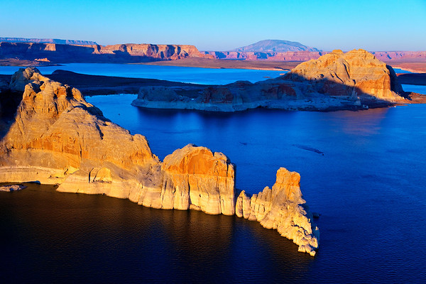 Cutting into the Blue.  Lake Powell, Arizona