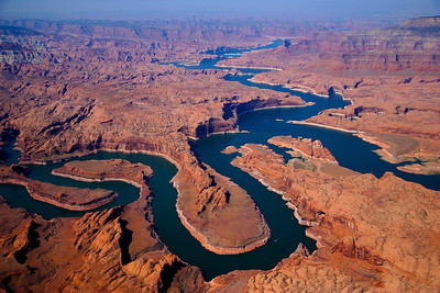Winding Path of Lake Powell, Utah