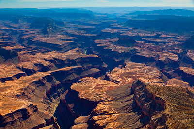 Changing colors at the Grand Canyon, AZ. Cessna aerial