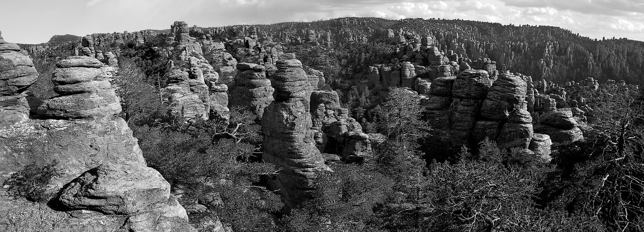 Land of the Standing-Up Rocks, Volcanic rhyolite Deposition, Chiricahua National Monument, Arizona