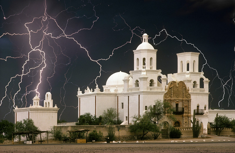 Approaching Storm, San Xavier Mission, Arizona